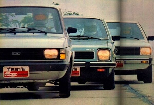 Brazil 1981 Fiat 147 Takes The Lead Chevy Chevette Strong