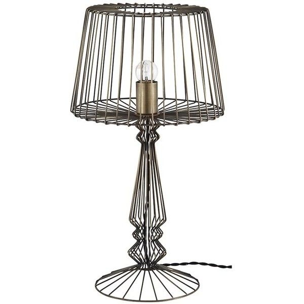 Open Wire Table Lamp ($160) liked on Polyvore featuring