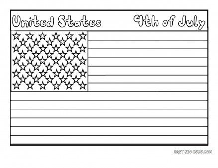 free printable flag of united states coloring page for kids