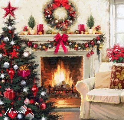 Weihnachtsbilder Kamin.The Macneil Studio Christmas Room 1 Weihnachten Christmas Room