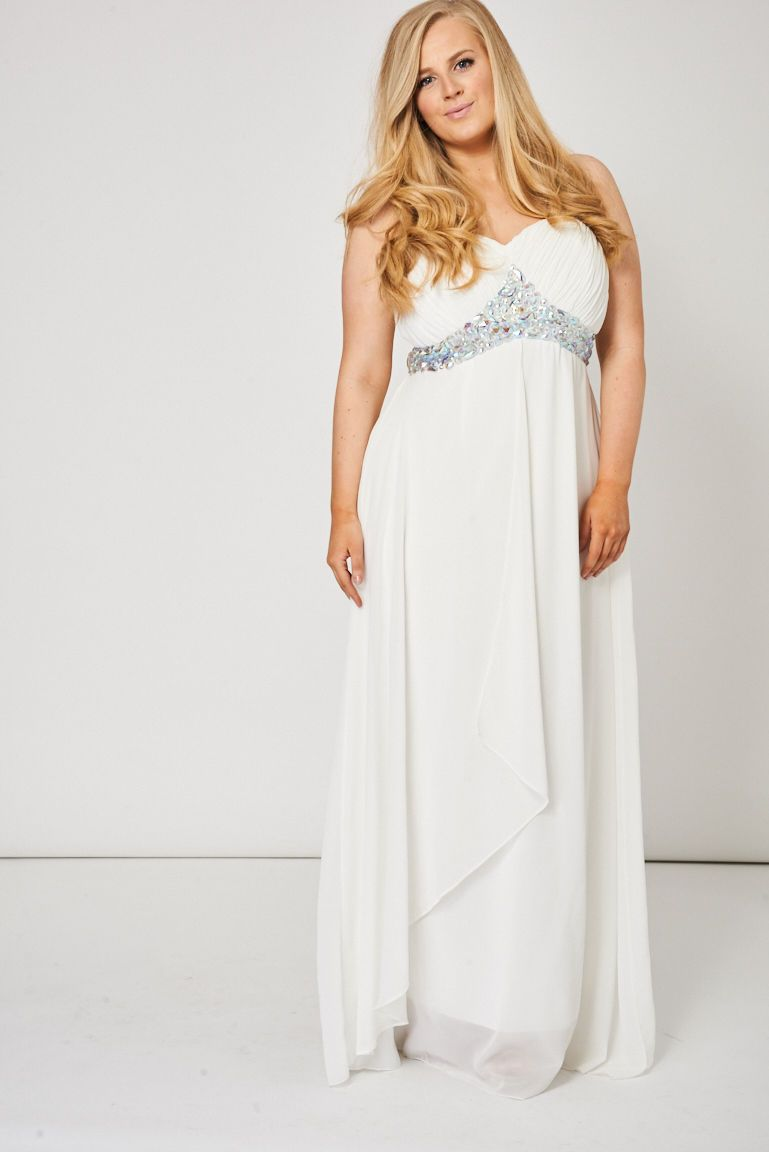 Pin by real121deal on when night falls evening wear pinterest ivory white pleated bust and gem diamante prom maxi dress ombrellifo Images