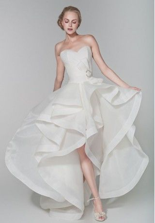 I M So In Love With This Dress High Low Hem Wedding Dresses Whiteazalea Modern Hemline