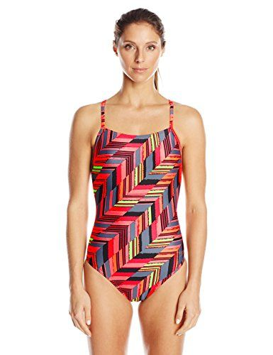 931e6f117f57c Speedo Women's Power Flex Eco Angles Free-Back One-Piece Swimsuit ...