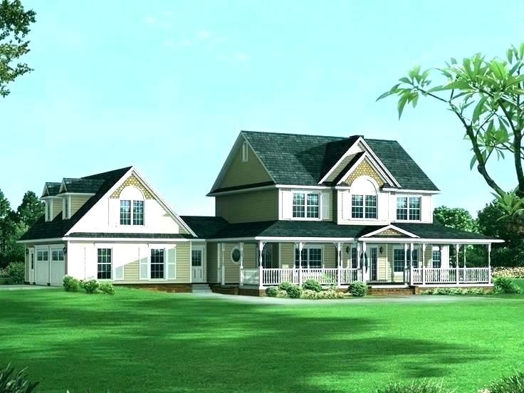 Craftsman Home Plans With Detached Garage House Two Story Elegant Country Farmhouse Ho In 2020 Farmhouse Style House Rustic House Plans Craftsman House Plans