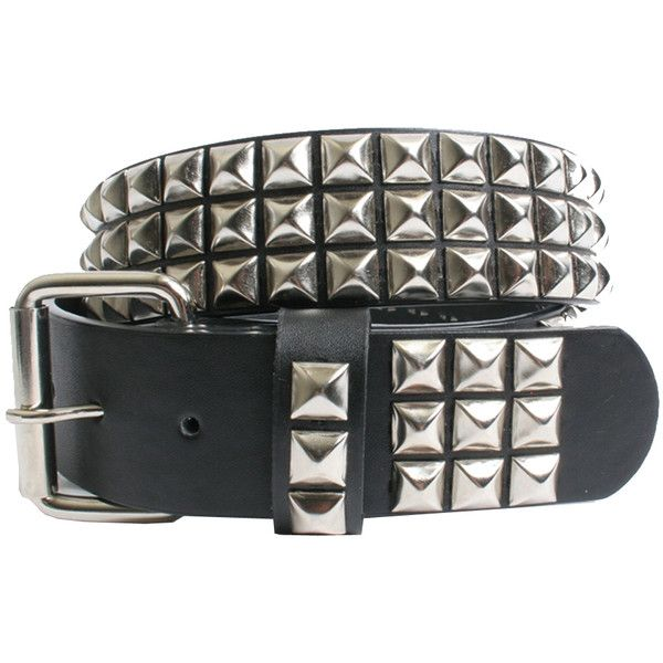 Silver Pyramid Studded Belt – Spirit Halloween ($13) ❤ liked on Polyvore featuring accessories, belts, jewelry, studded, 80s punk fashion, 80s fashion, pyramid stud belt, silver belt and silver studded belt