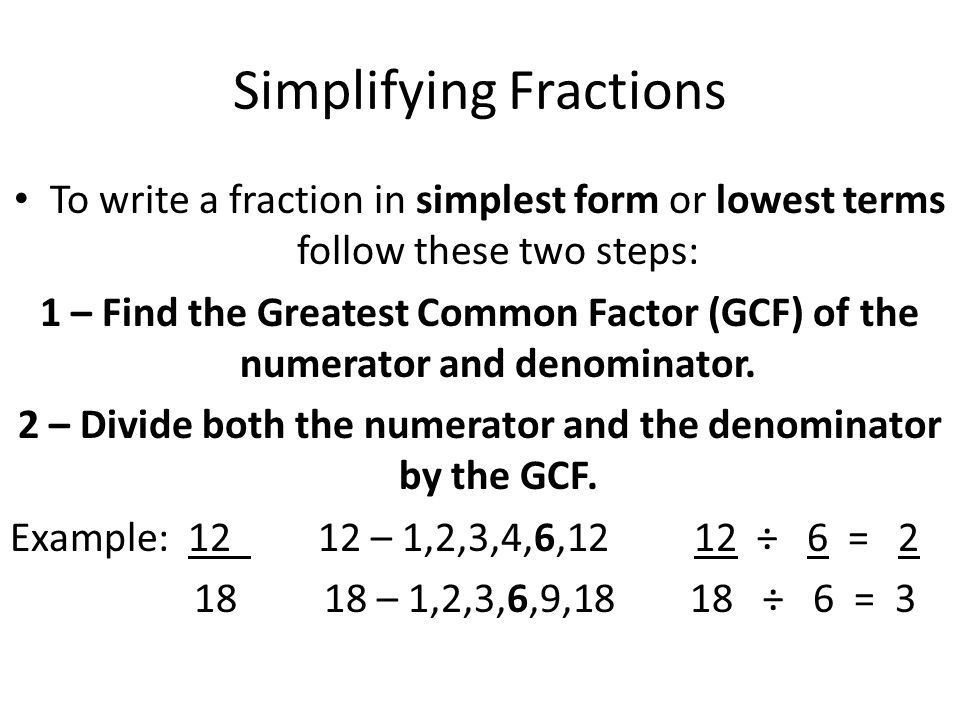 simplest form 9/18  Image result for simplify fraction | Simplifying fractions ...