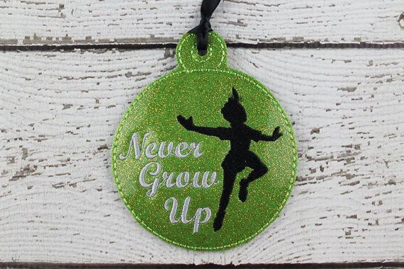 ITH Never Grow Up Christmas Ornament by DejahVueDesigns on Etsy