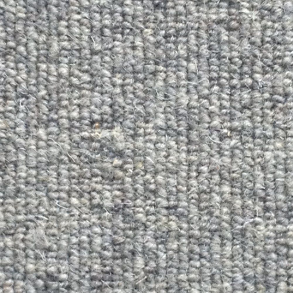 Wool Loop Rug: Allfloors Blenheim 276 Nickel Plain 100% Wool Grey Loop