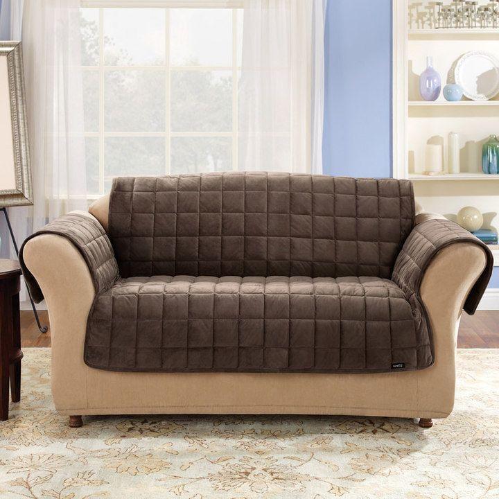 Sure Fit Deluxe Comfort Sofa Slipcover In 2021 Pet Furniture Covers Cushions On Sofa Slipcovered Sofa