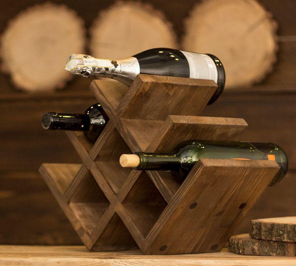 soporte de vino de madera estante para vino del hogar rsticas estante para botellas de