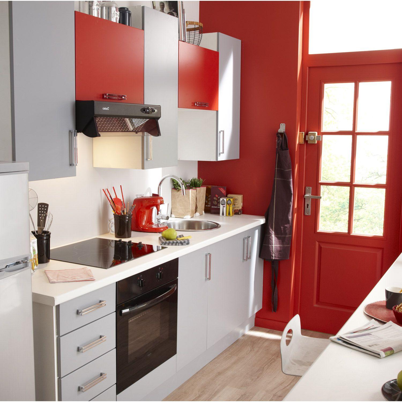 Meubles De Cuisine Blanc Gris Rouge Magasin Cuisine Leroymerlintrignac Trignac Loireatlantique Cuis Cuisine Fermee Plan Cuisine Idee Petite Cuisine