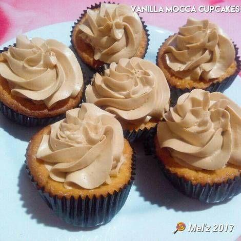 Resep Cupcakes Vanilla Mocca Super Lembut Oleh Mel Z Resep Makanan Mini Cupcakes Resep