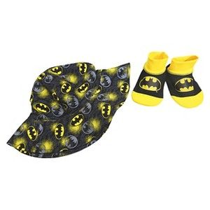 f95dc786ec1 Batman Infant Boys  Swim Hat Aqua Socks Set -Black 0-12M