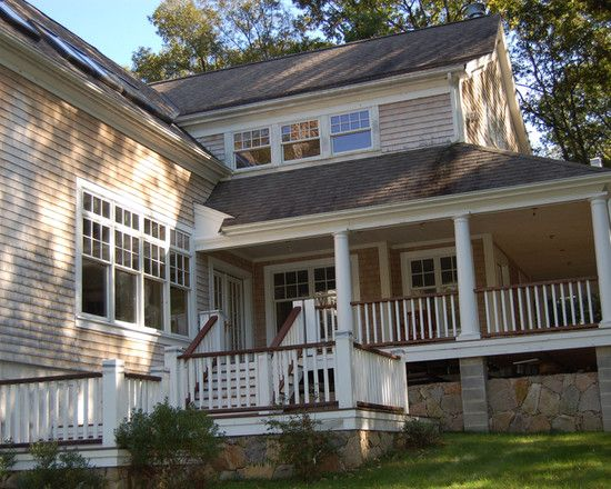 Natural Stained Exterior Railings Design, Pictures ...