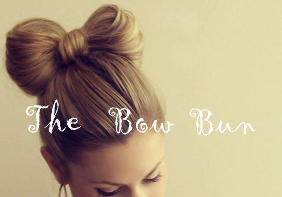 bow bun tutorial from katie @ running on happiness