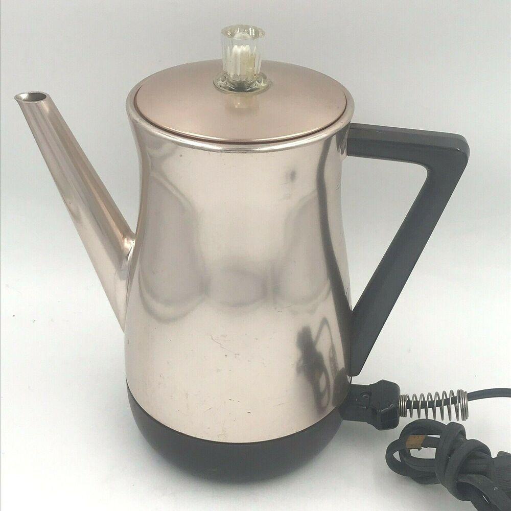 Vintage West Bend Rose Pink Flavo Matic Coffee Percolator Pot 8 Cup 32595 Sh Westbend Percolator Coffee Percolator Single Coffee Maker
