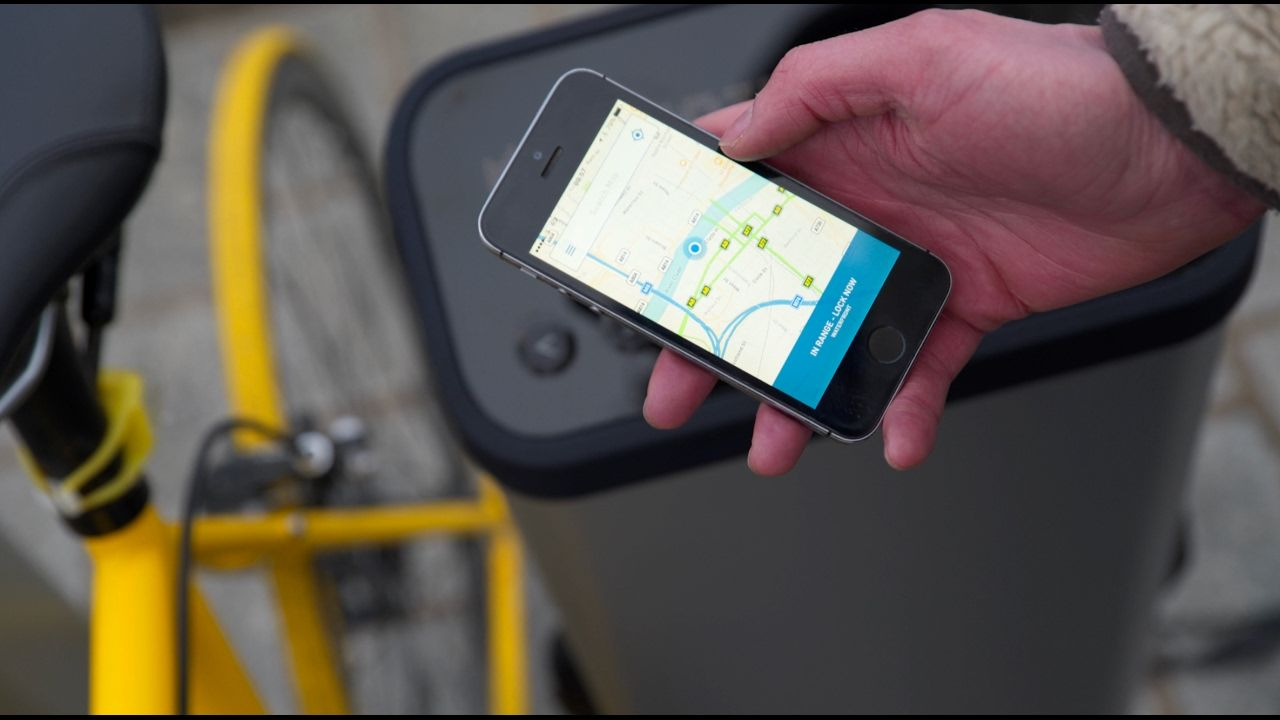 UK startup invents smart bike rack. Locks/Unlocks from your phone and you can book a space online. https://www.youtube.com/watch?v=wTdjaNReNlU
