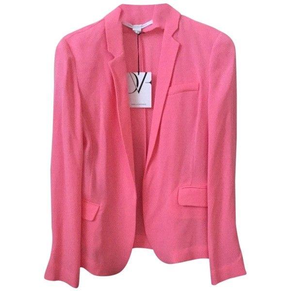 Pre-owned Diane Von Furstenberg Victor Pink Rose Jacket (715 BRL) ❤ liked