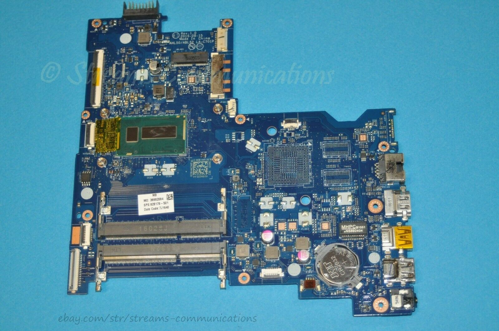 Excellent for HP 15-AC 250 G2 858583-601 Laptop Motherboard with I3-5005 CPU LA-D703P 100/% Working