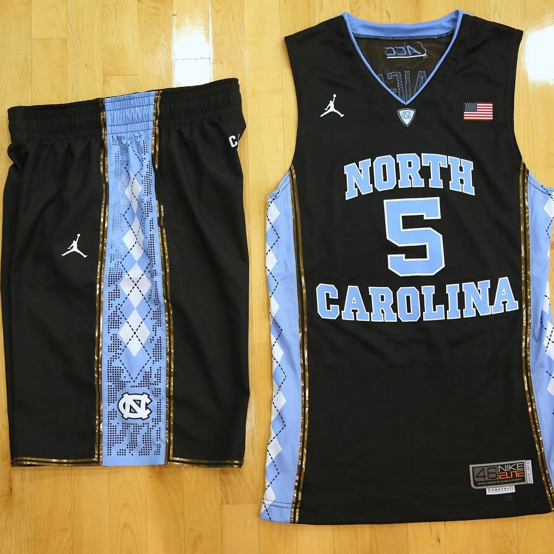 3f8dc036a198 First look at the new black UNC basketball uniform that the team will debut  against UCLA ...