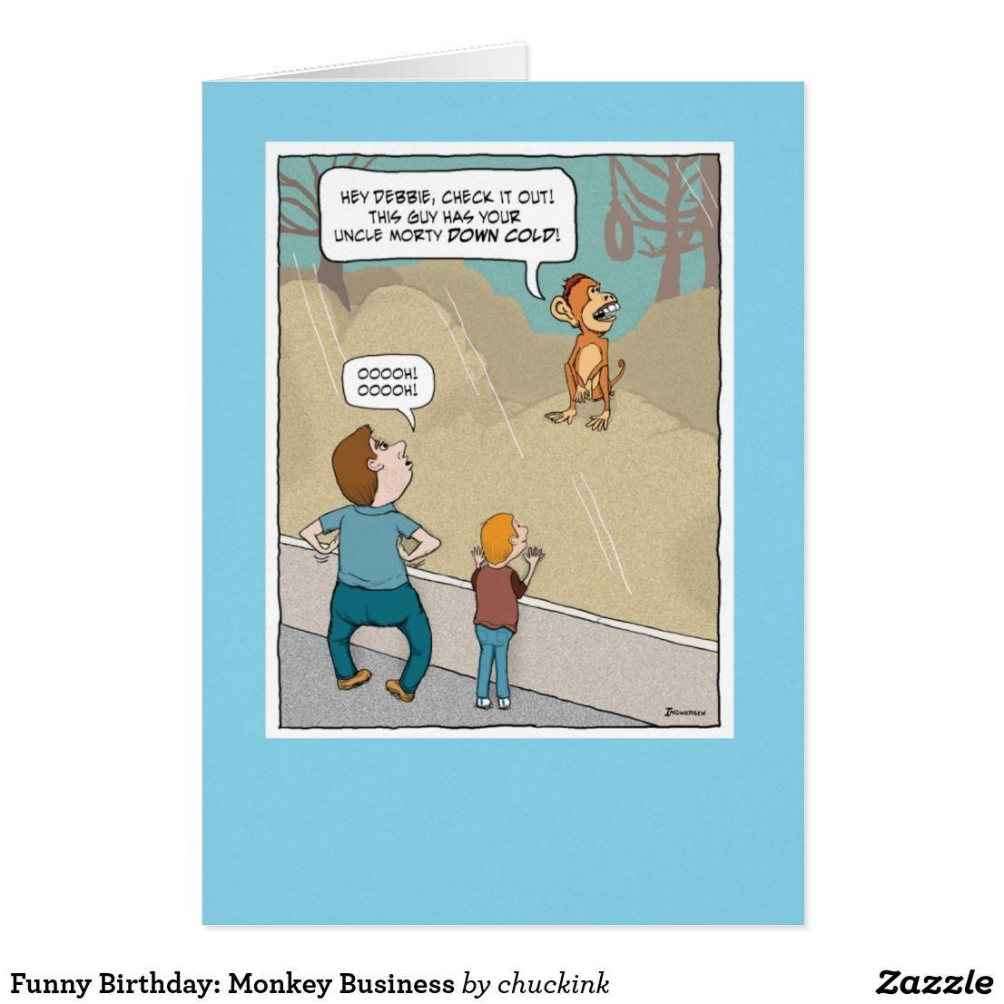 Funny Birthday: Monkey Business Card   Funny Greeting Cards ...