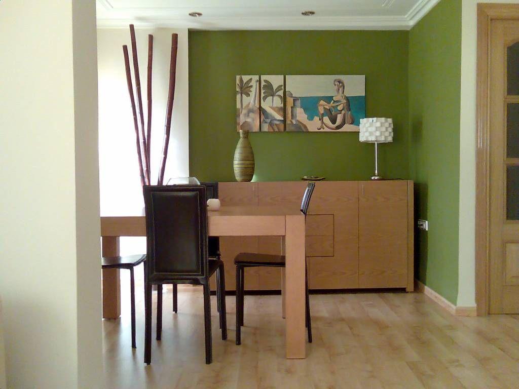 Decoración comedor en color verde - Decoración de Interiores ...