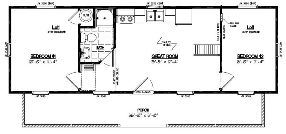 Image Result For 12 X 30 Floor Plans Tiny House Floor Plans Cabin Floor Plans House Floor Plans