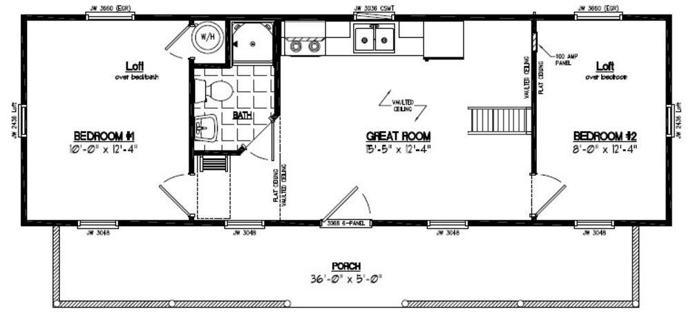 12 x 40 mobile home plan