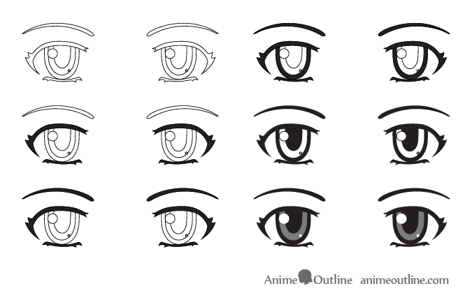 How To Draw Angry Anime Eyes Anime Angry Eyes Drawing In 2020 Eye Drawing Anime Eyes How To Draw Anime Eyes