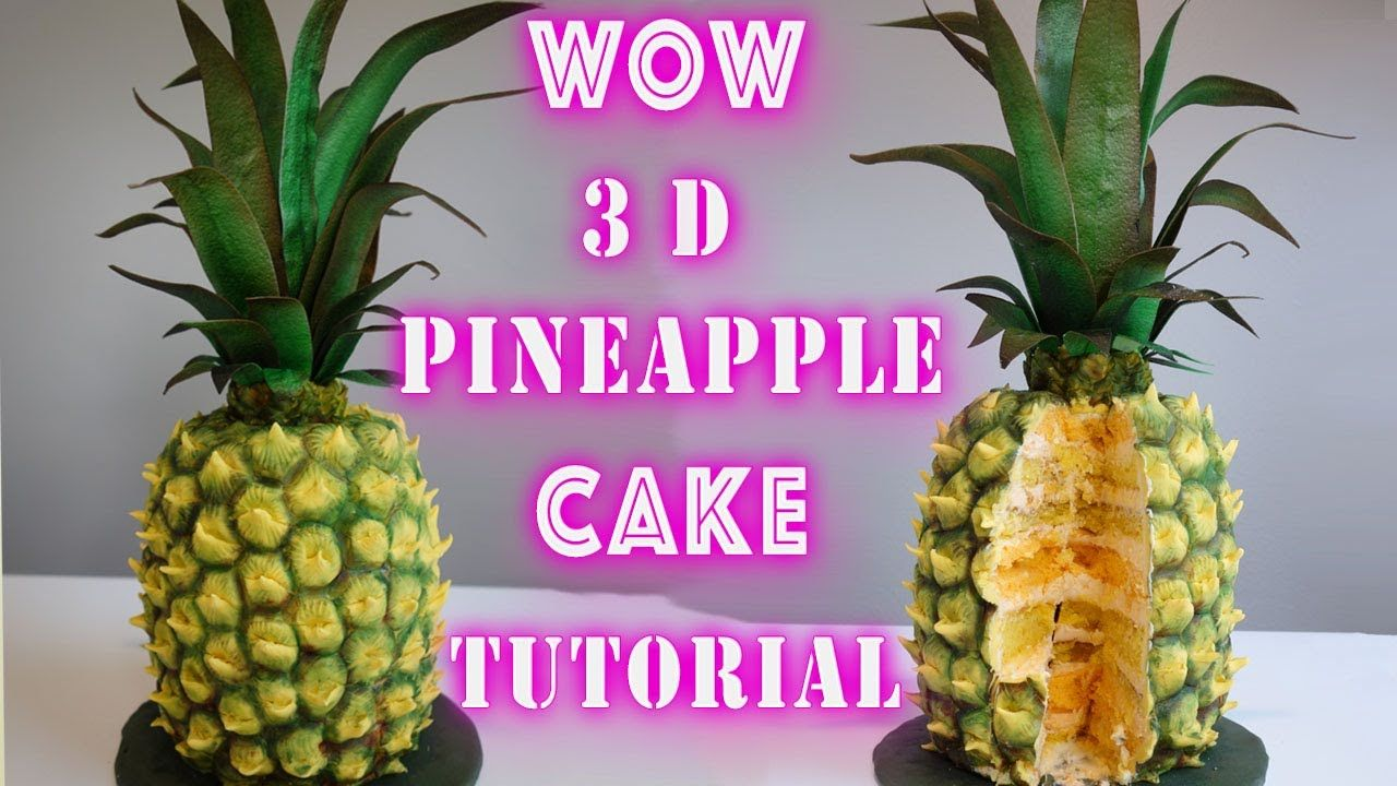 3D Pineapple Cake Tutorial. Creating Realistic Pineapple