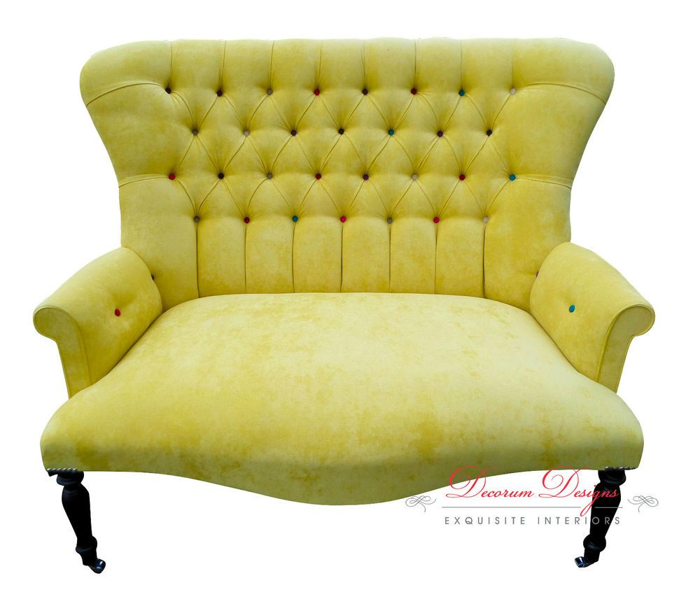 2 seater love chair hanging ace hardware reduced giant retro smartie velvet button back armchair 395