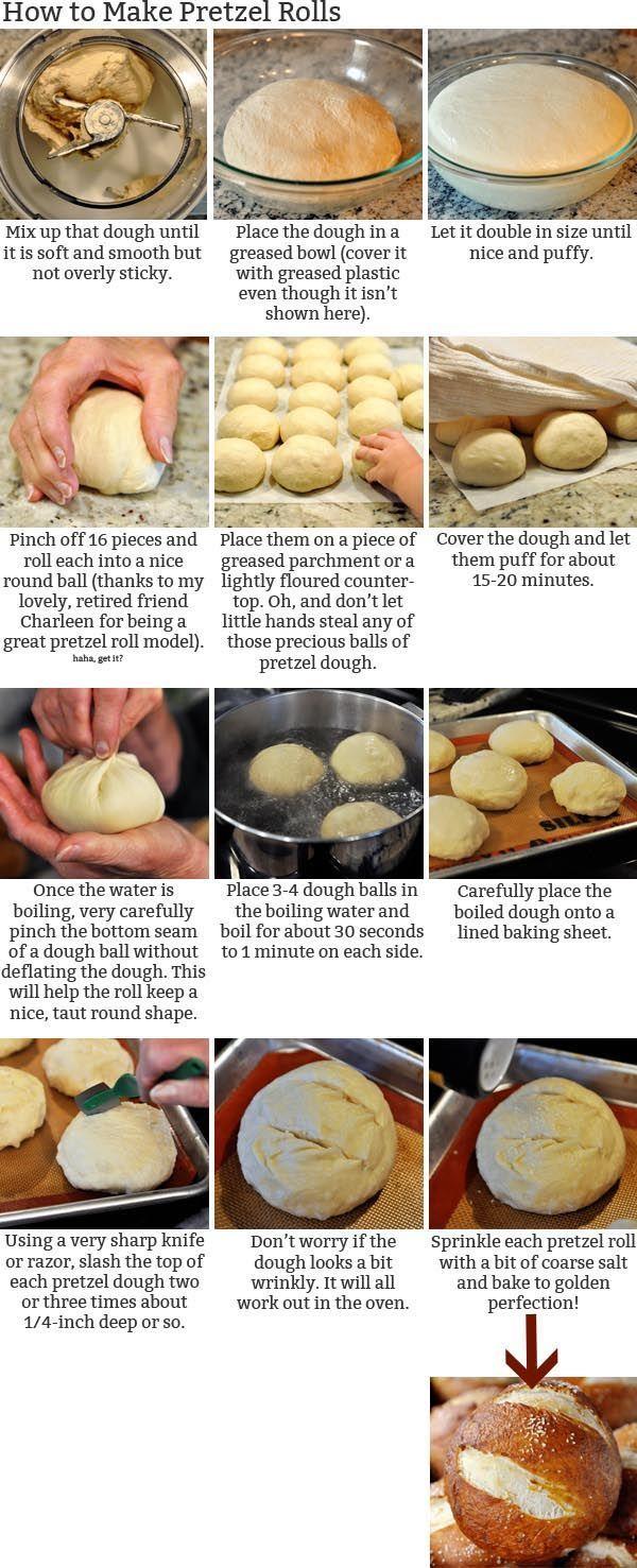 Soft Pretzel Rolls | Recipe | Pretzels, Fried honey bananas and ...