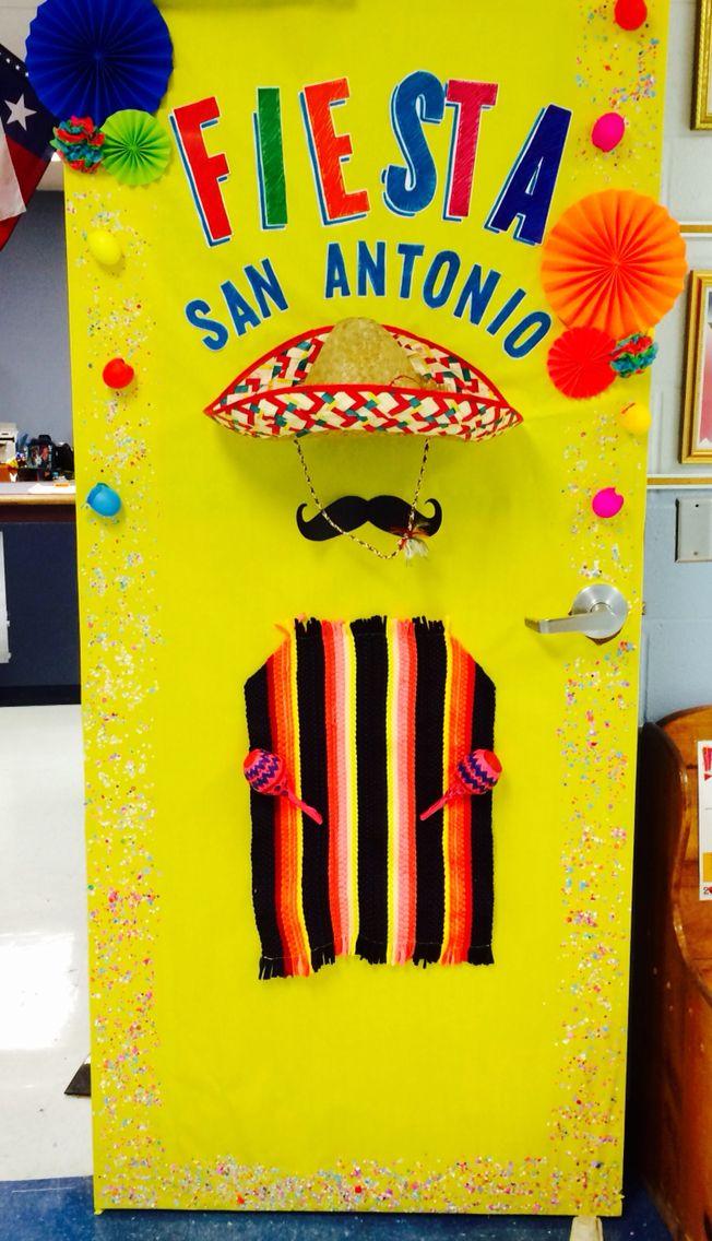 Fiesta San Antonio School Door Decoration💃🏽☀️🍗🎊 Projects