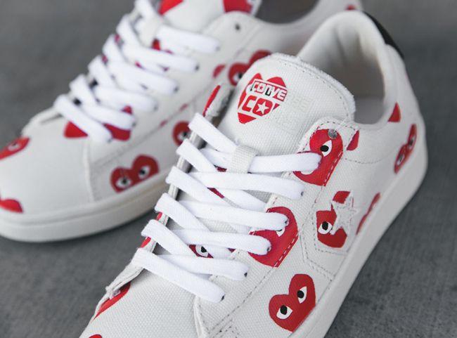Comme des Garçons PLAY x Converse Pro Leather Low - EU Kicks: Sneaker  Magazine