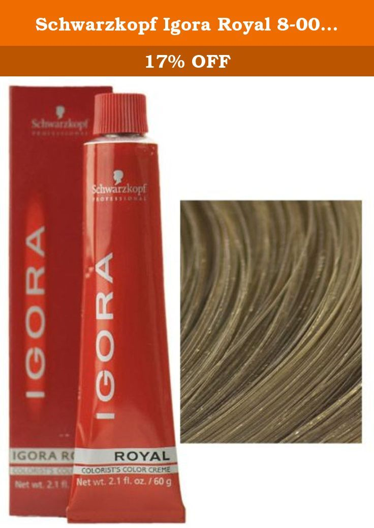 d5df25c700 Schwarzkopf Igora Royal 8-00 Light Blonde Natural Extra Permanent Hair Color  2.1 fl.