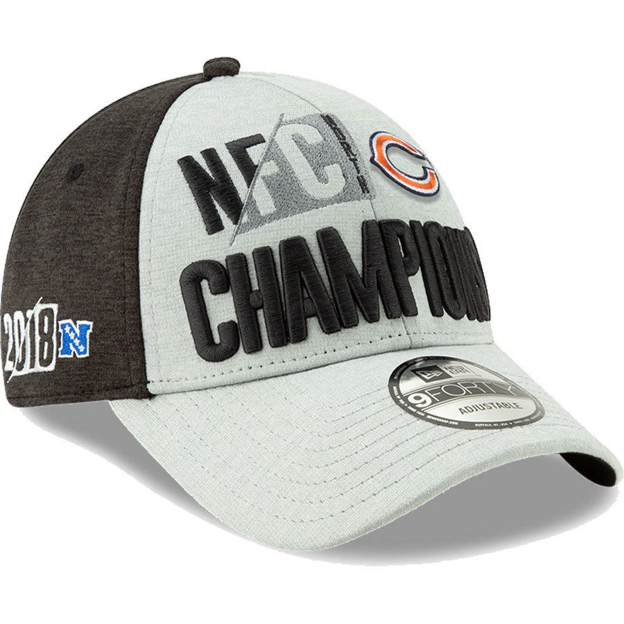 d7d98b421b55f9 closeout chicago bears 2018 nfc north division champions locker room 9forty  adjustable hat by new era
