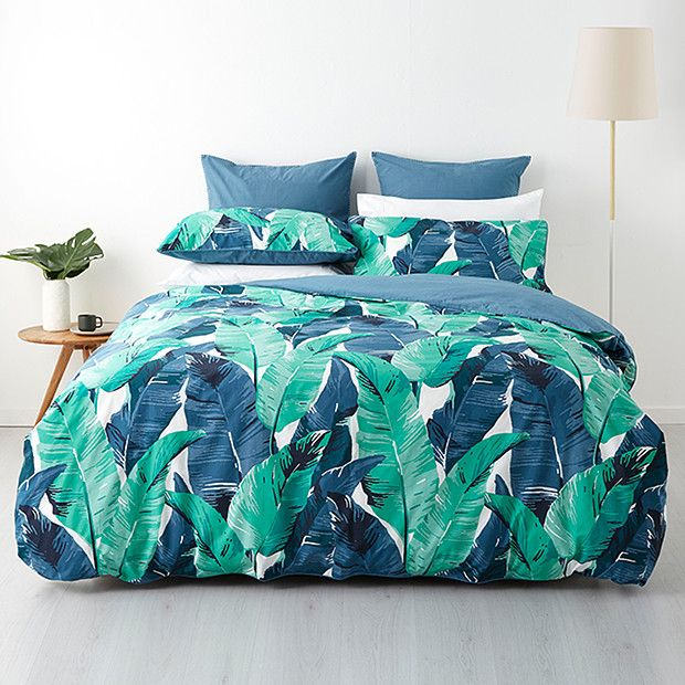 Tropicana Leaf Quilt Cover Set Target Australia Future