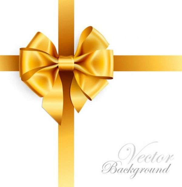 Glossy Gold Gift Bow Vector Background Welovesolo Bow Vector Gold Christmas Bows Gift Bows