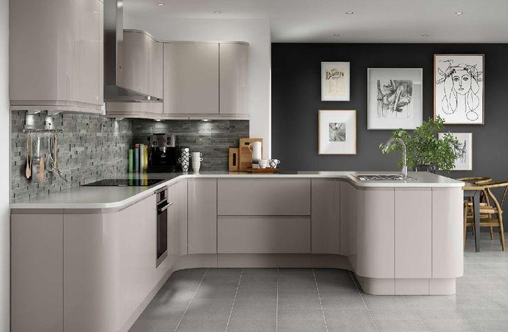 Holborn Gloss Cashmere Kitchen Layout, Gray Cashmere Kitchen Cabinets
