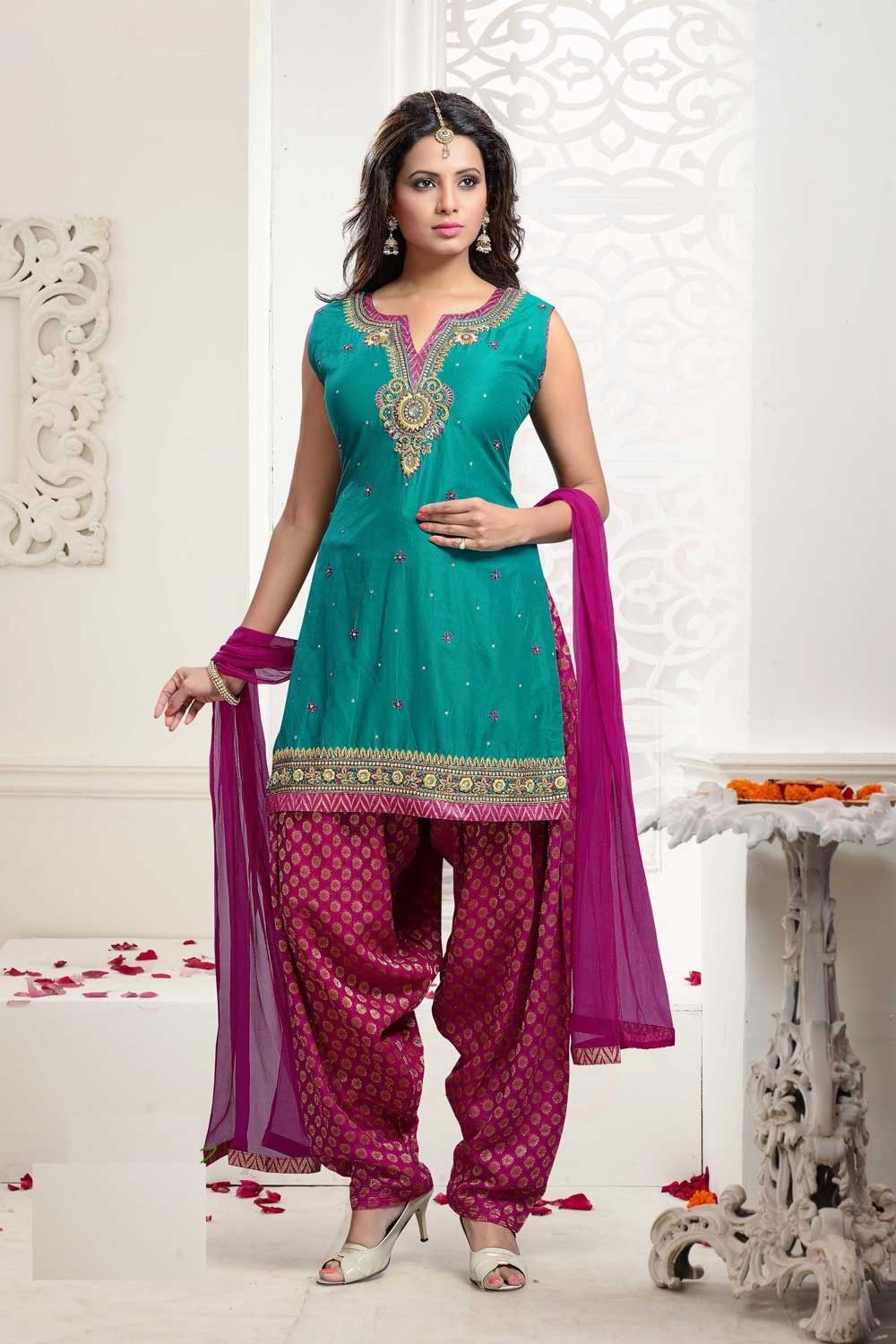 Green Patiala Suits, Silk Patiala Suits, AU$236.35. Buy latest ...