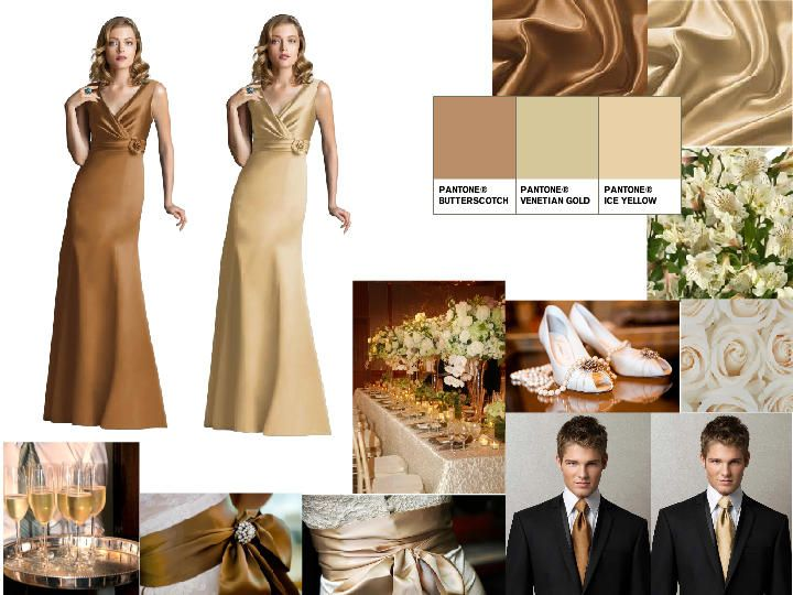 a9a7f5ab5d4 champagne and gold   PANTONE WEDDING Styleboard   The Dessy Group ...