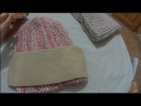вязание как пришить подкладку к вязаной шапке от вики Nipid