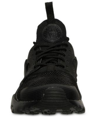 05fb71588bad Nike Big Boys  Air Huarache Run Ultra Running Sneakers from Finish Line -  Black 3.5
