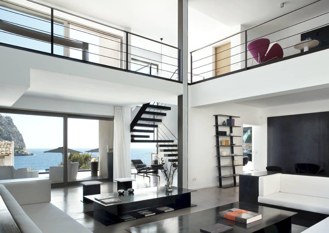Espacios en doble altura salons and house - Salones minimalistas ...