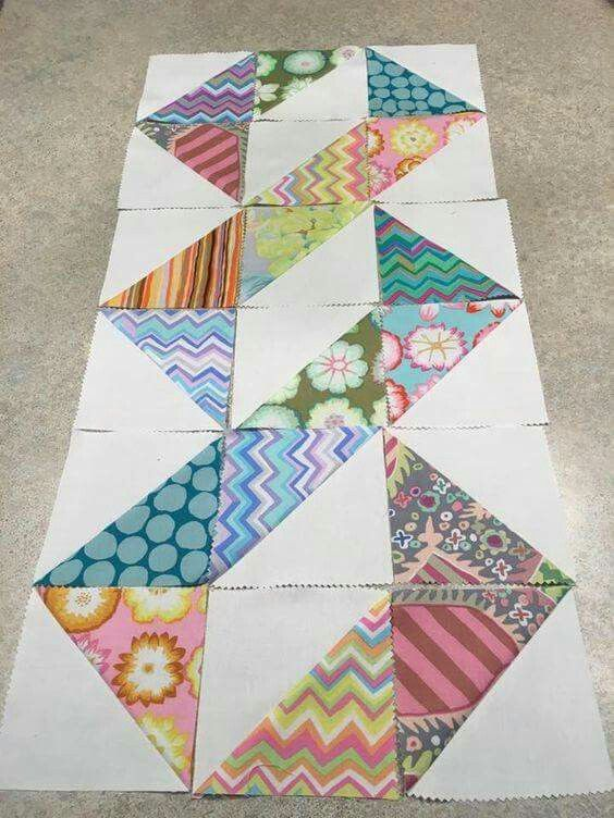 Quilt Patterns Squares And Rectangles : Rectangle half square quilt as you go Pinterest Squares, Patchwork and Half square triangles