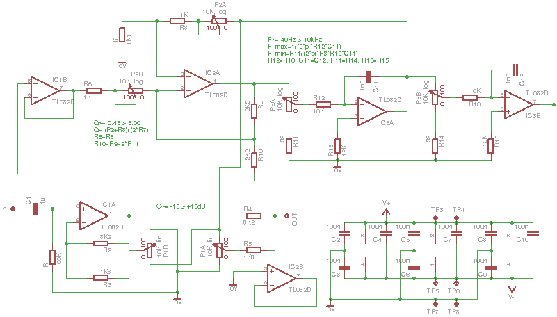 Parametric Equalizer Schematic Parametric Equalizer Guitar Effects