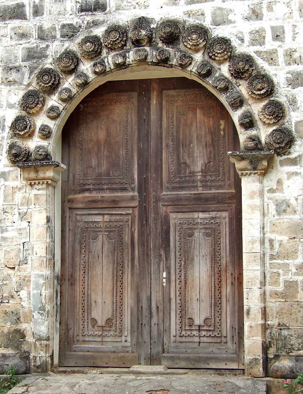 Main doorway, Anini-y Church, Antique Province, Philippines - Main Doorway, Anini-y Church, Antique Province, Philippines Love