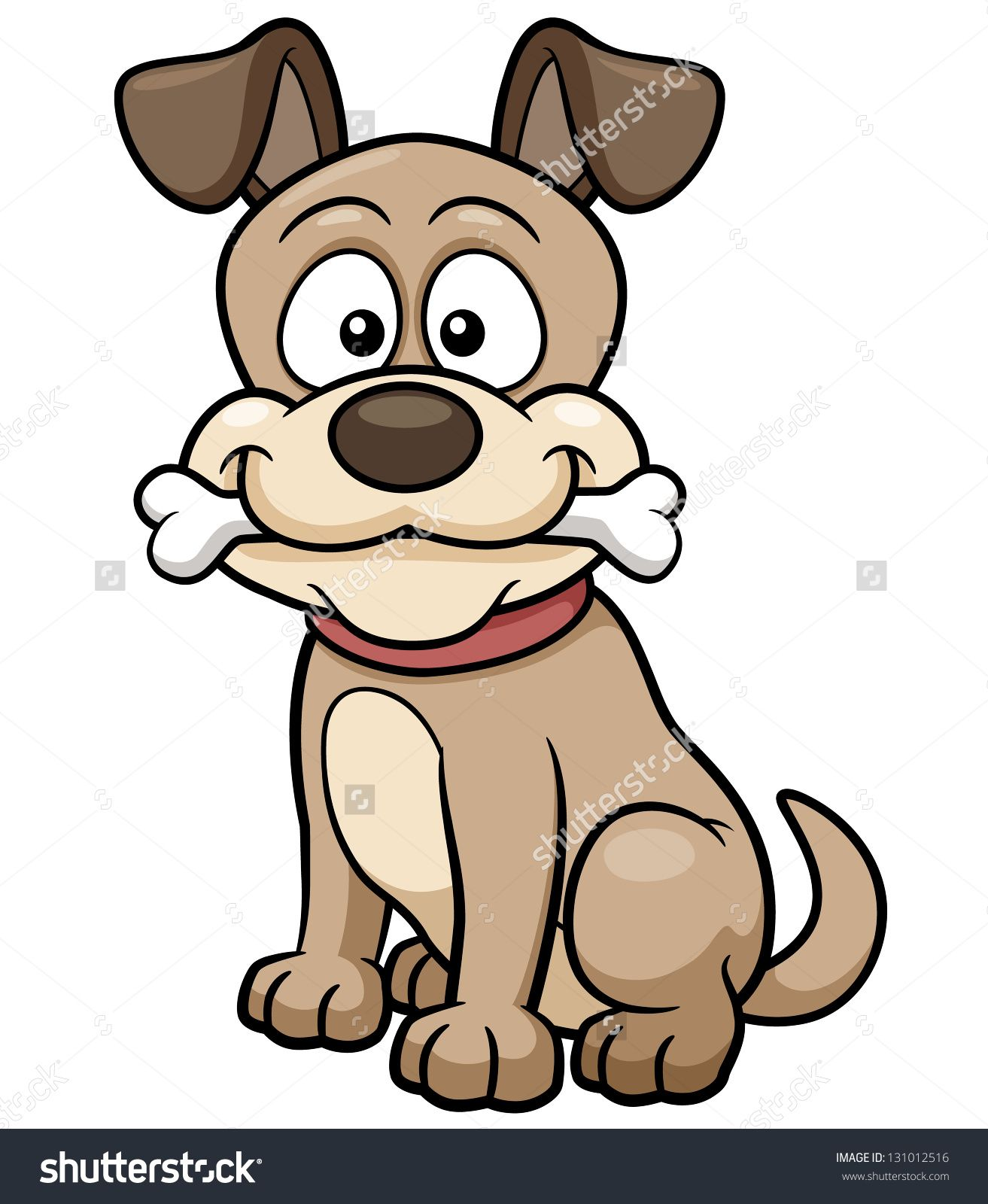 Vector Illustration Of Cartoon Dog Multyashnye Sobaki