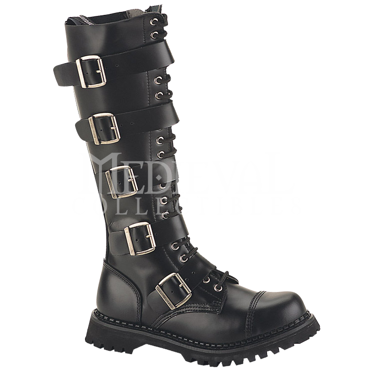 Five Buckle Gothic Tall Boots in 2020 | Punk boots, Gothic