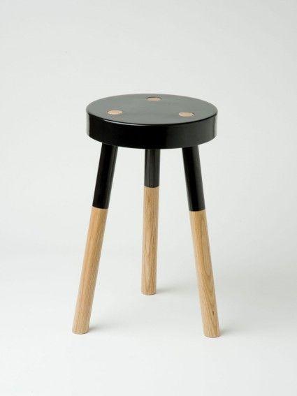 Black 'Y' stool by Tim Webber